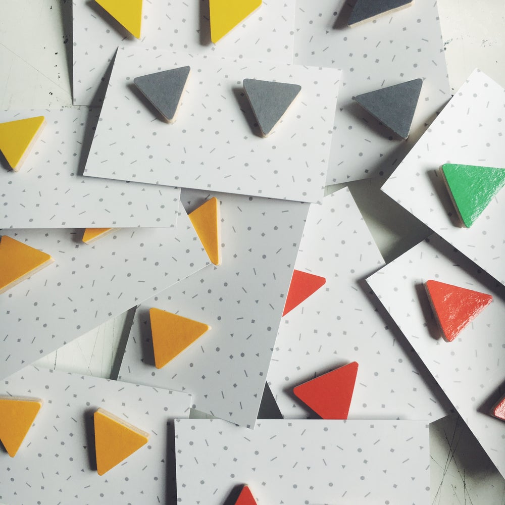 Image of TRIANGLE EARRINGS - LOTS OF COLOURS TO CHOOSE FROM!