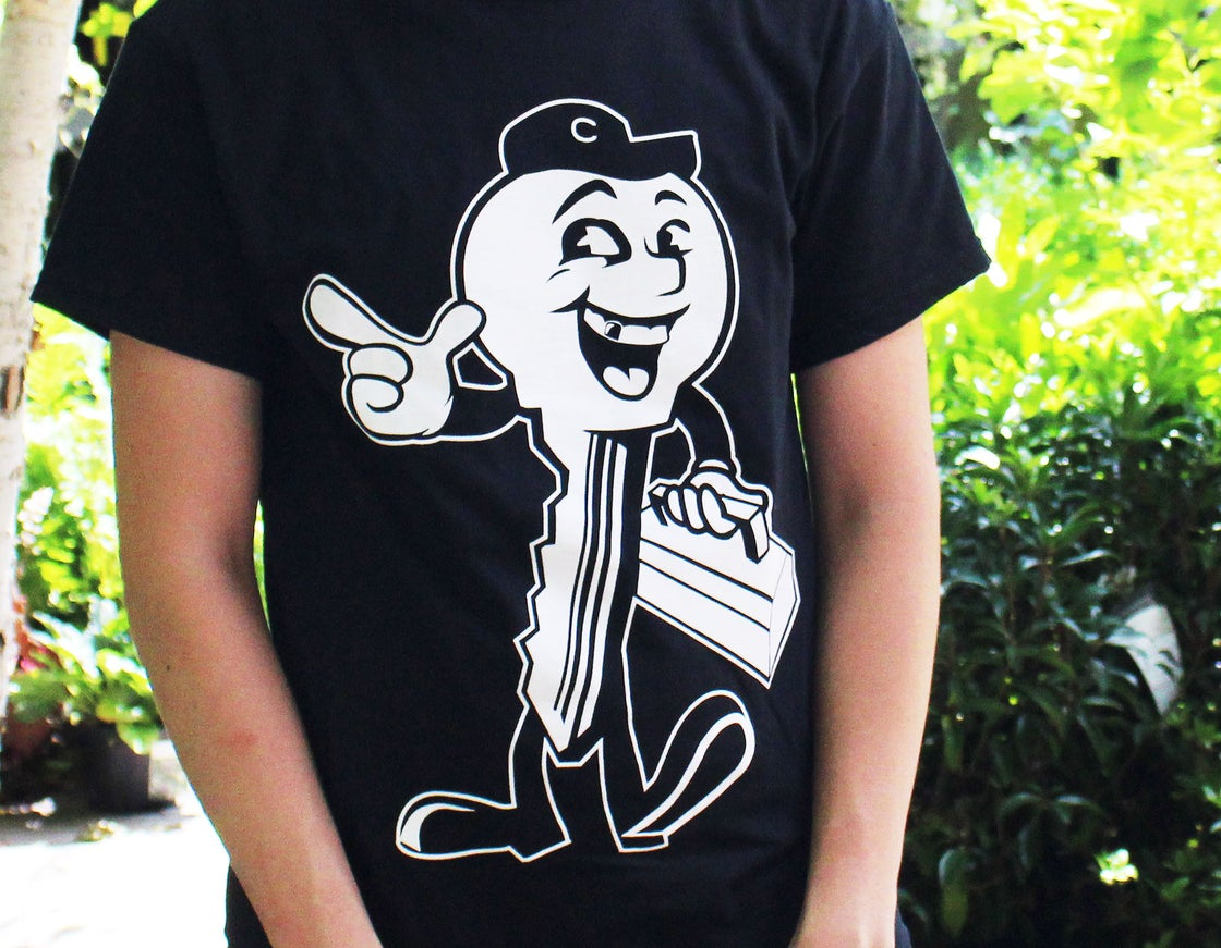 "Image of ""Key Guy"" Mascot T-Shirt - Black"