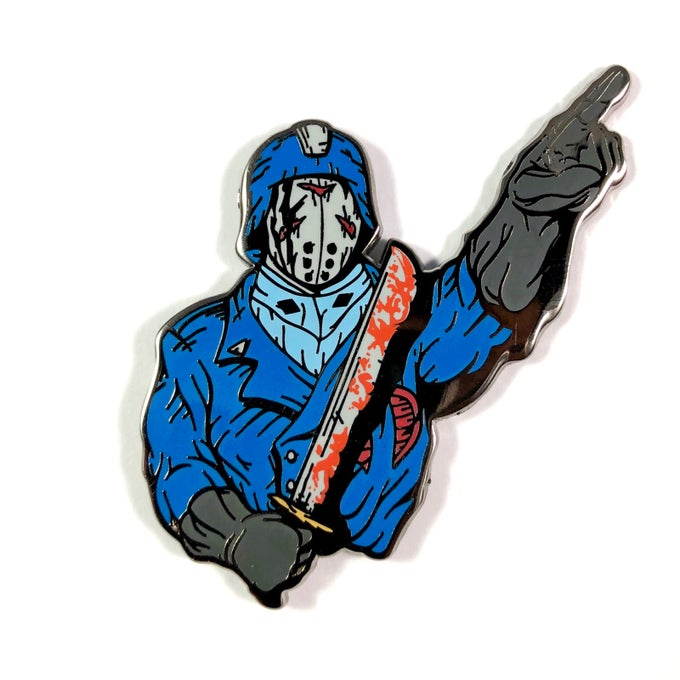 Image of Slasher Commander (Enamel Pin)