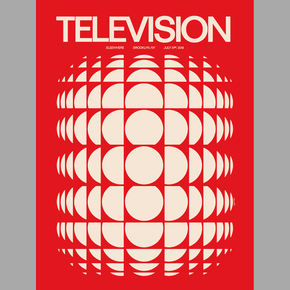 Image of Television - 2018 Brooklyn Poster