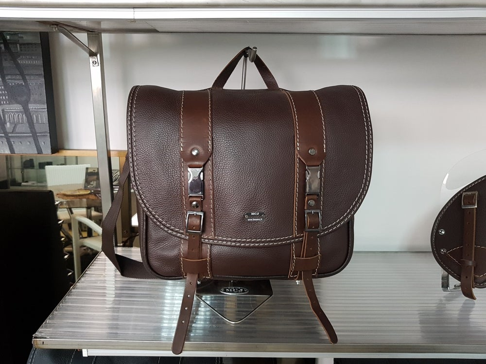 """Image of MCJ """"BUSINESS"""" BAG BROWN LEATHER"""