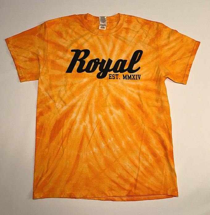 Image of Cyclone Tie Dye Tee - Gold