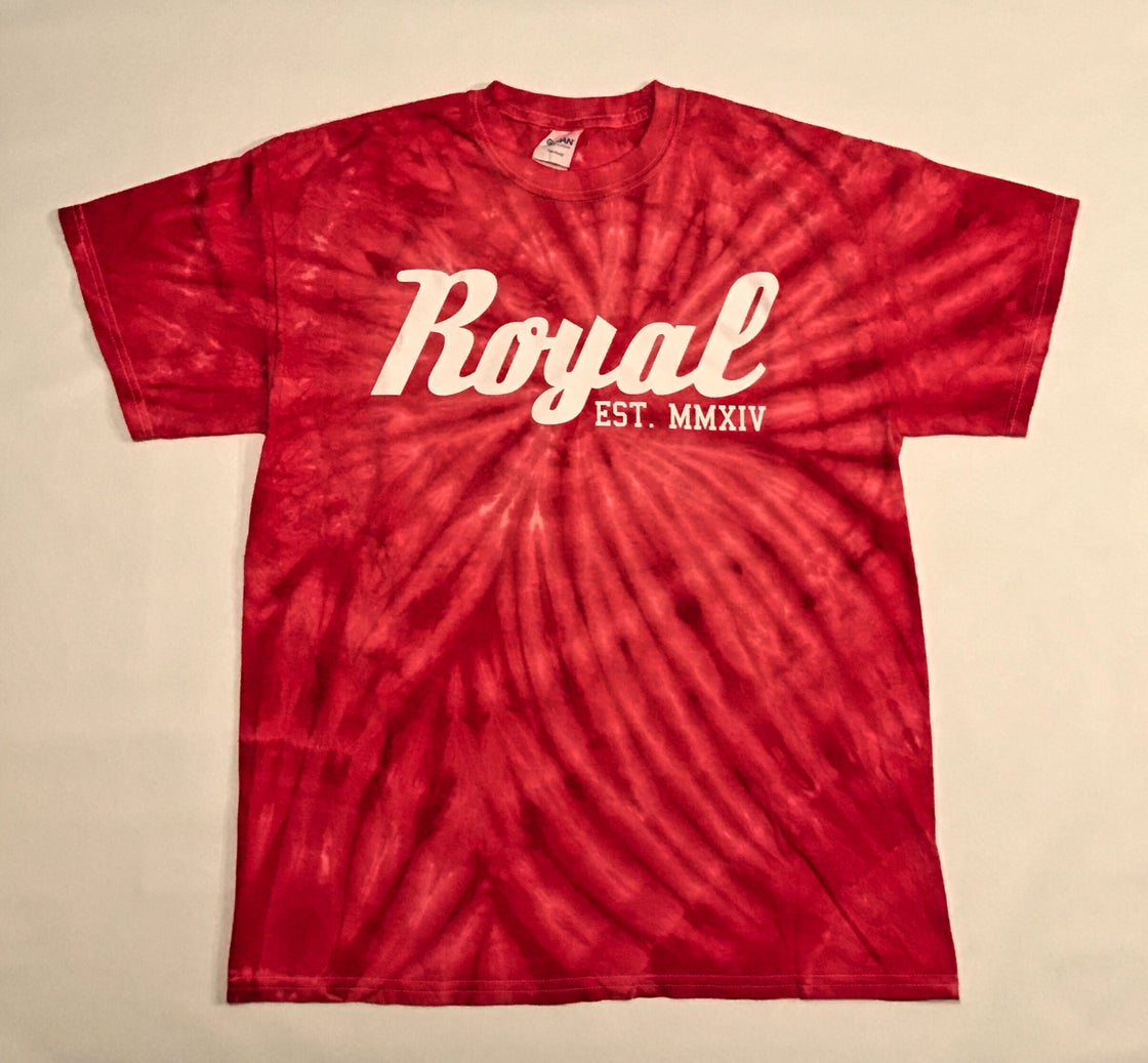 Image of Cyclone Tie Dye Tee - Red