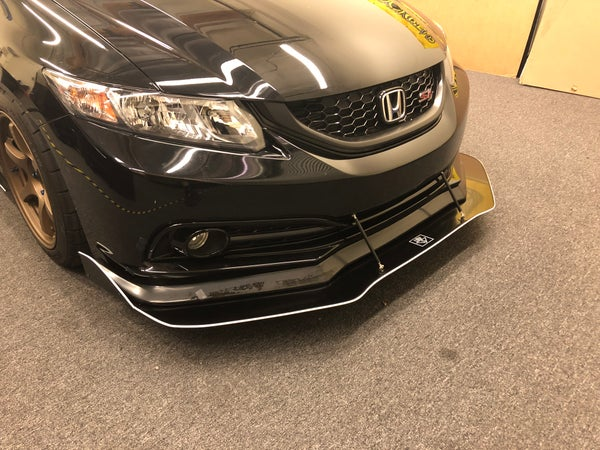 "Image of 2012 - 2015 Honda Civic (9th Gen) ""v2"" front splitter"