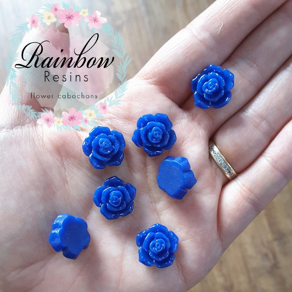 Image of Royal blue roses x 10