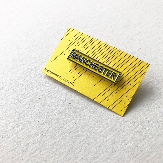 Image of MANCHESTER enamel bar pin badge