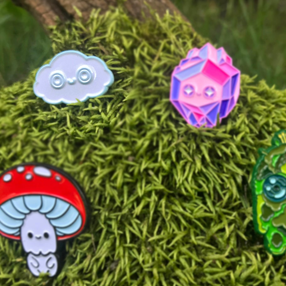 Image of Cloudy Puffs - Enamel Pins