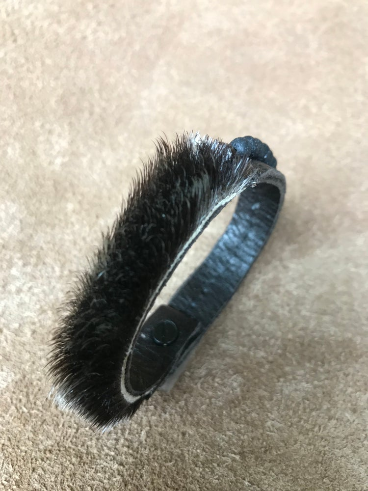 Image of Asymmetrical Sealskin Bracelet