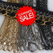 Image of Clearance Sale - Gold, Nickel, & Gunmetal Chain Straps - Your Choice - Limited Inventory