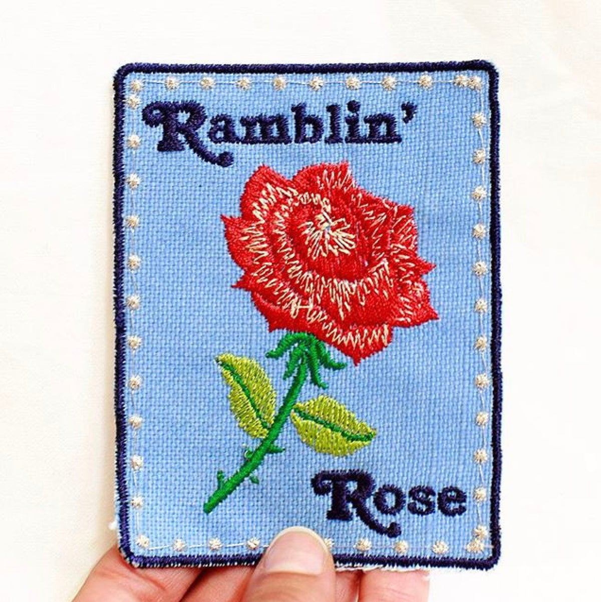 Ramblin' Rose Handmade Patch! 3x4