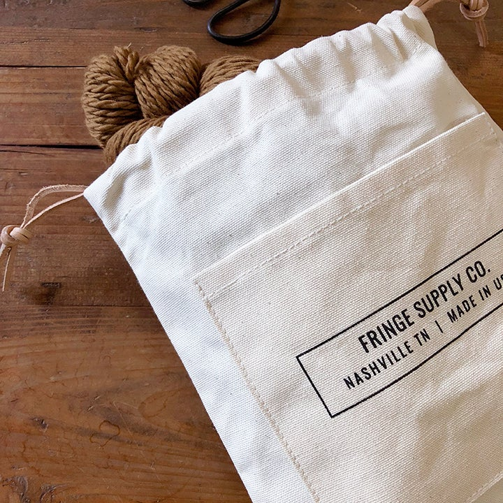 Image of Fringe Supply Co. drawstring project bag