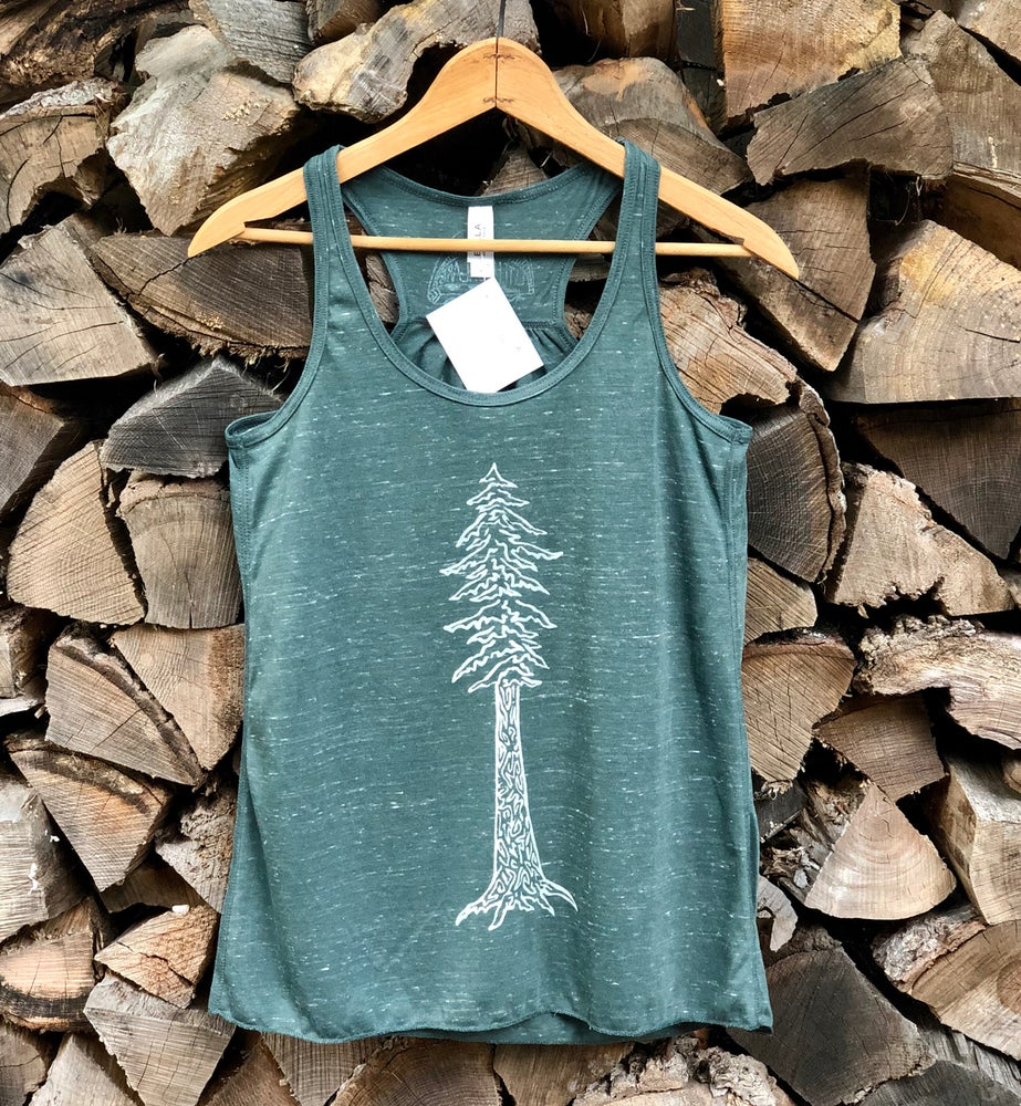 Image of Redwood flowy racerback tank