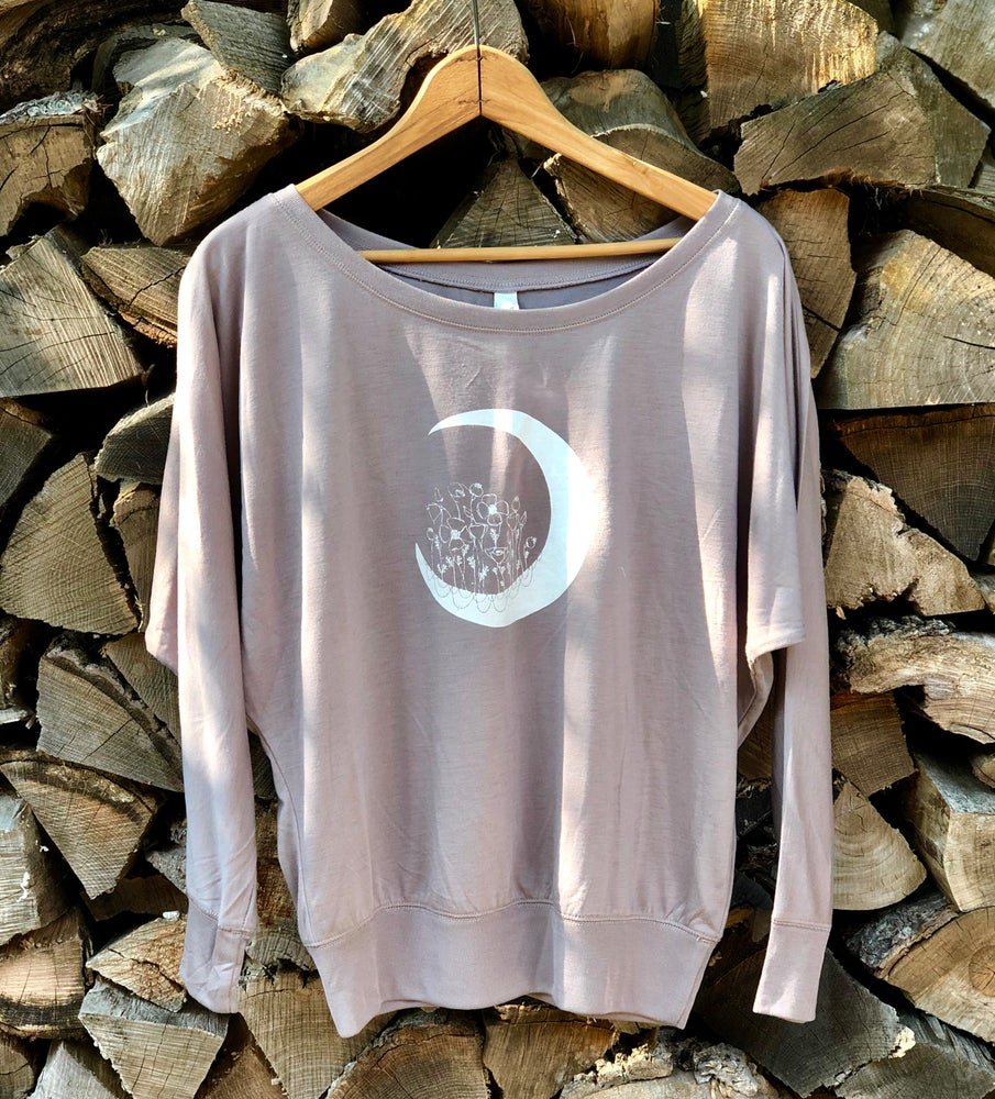Image of Poppy Moon off shoulder long sleeve