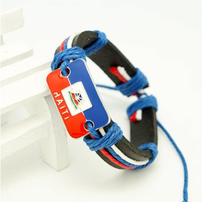 Image of Haiti Woven leather bracelet