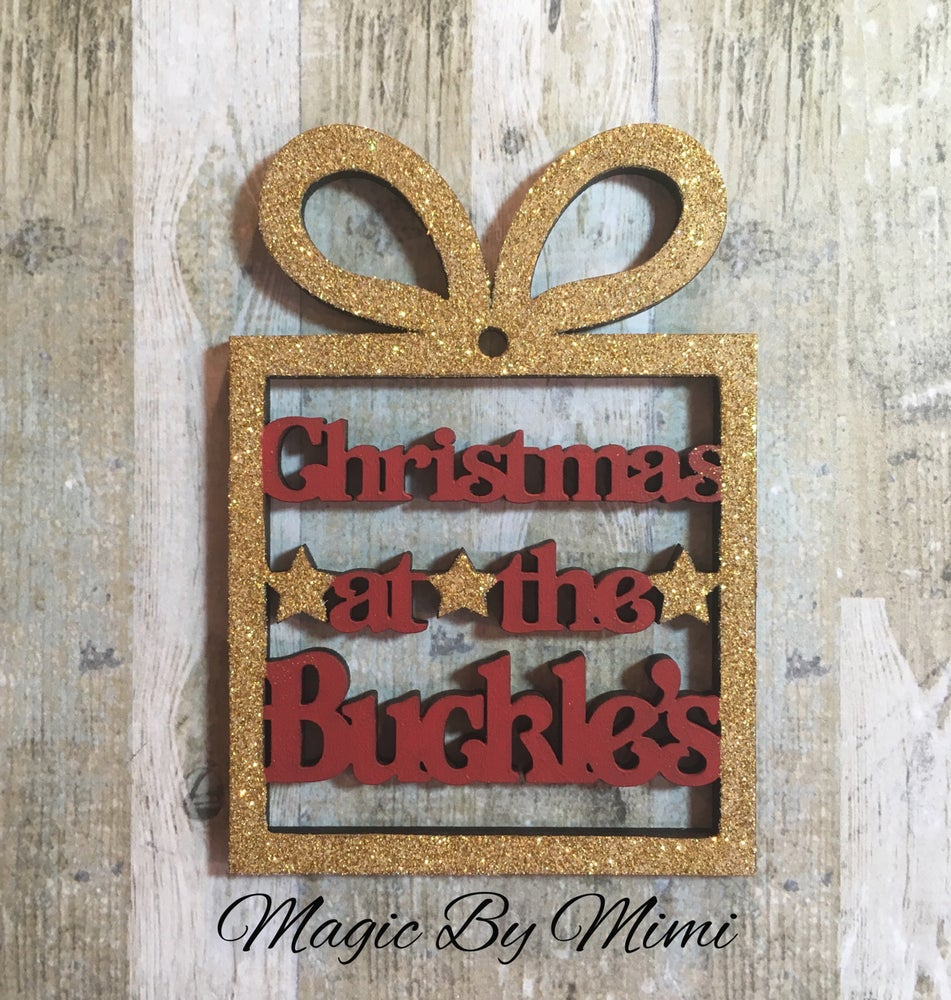 Image of 'Christmas at the' wooden gift