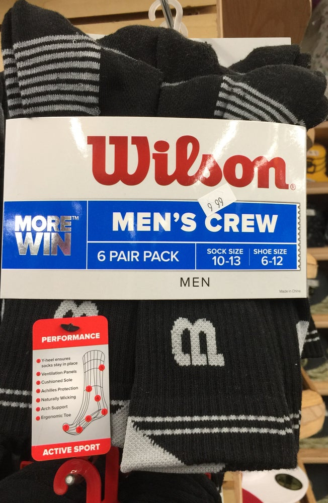 Image of Wilson 6 pack socks