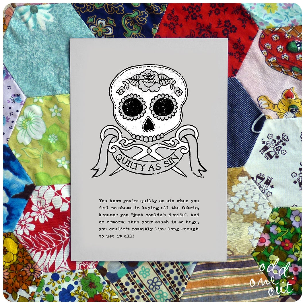 Image of Quilty as Sin - A5 Print