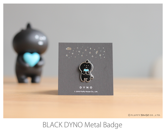 Image of DYNO Silver Black Metal Badge