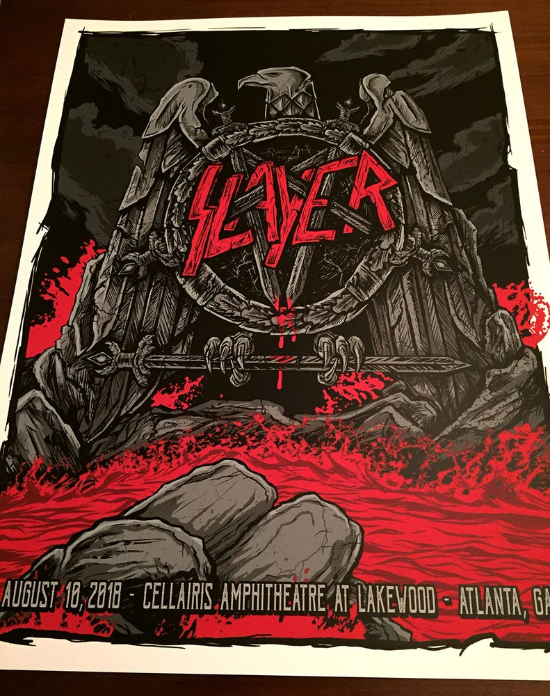 Image of SLAYER - GIG POSTER