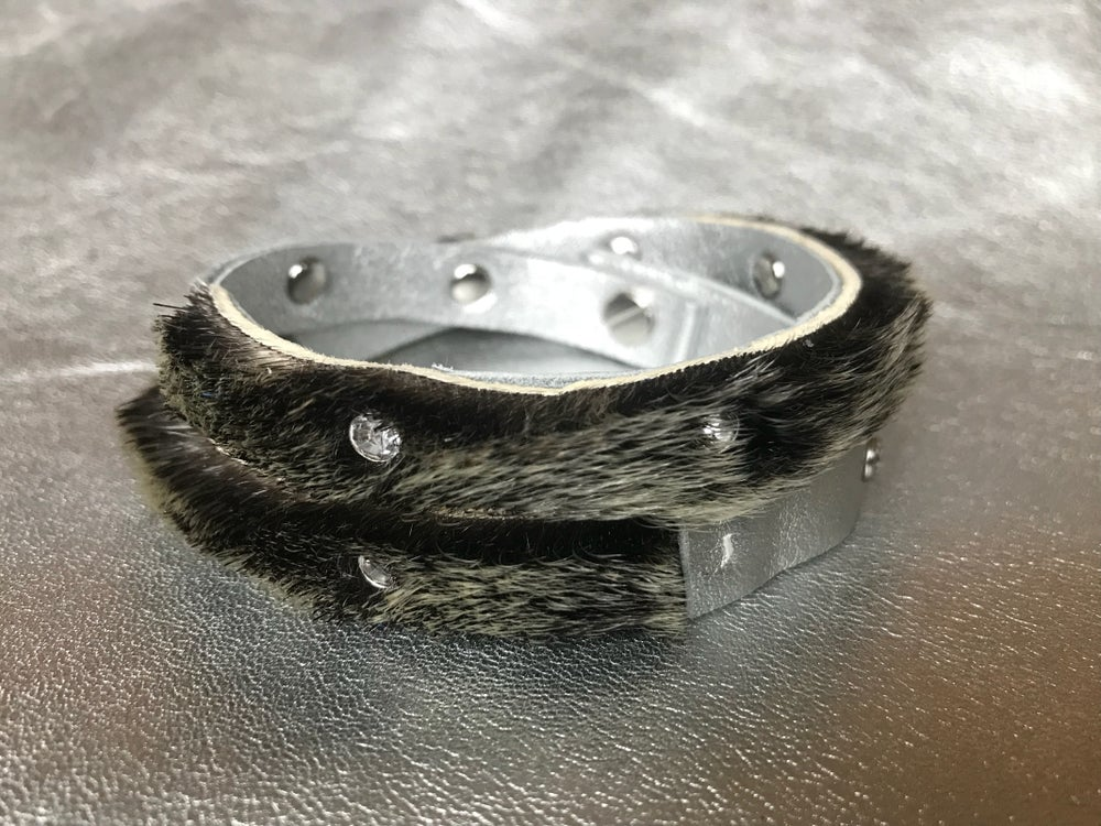 Image of Sealskin with Crystal Rivets