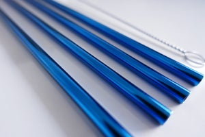Image of Blue straws 2, 4 or 6 pack