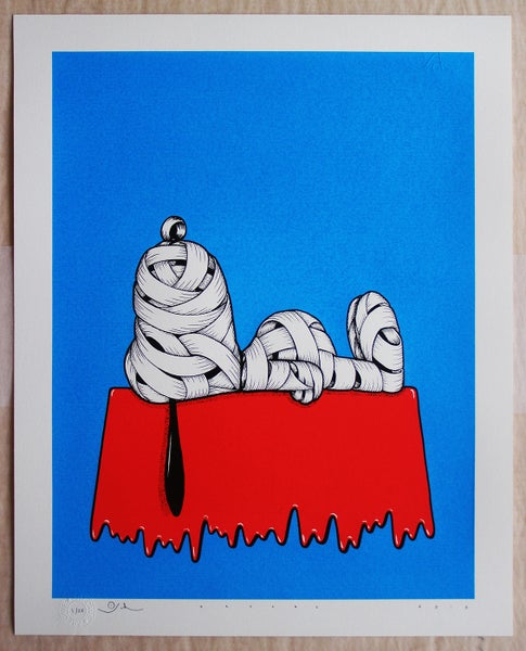 Image of Otto Schade - Snoopy Ribboned (blue)