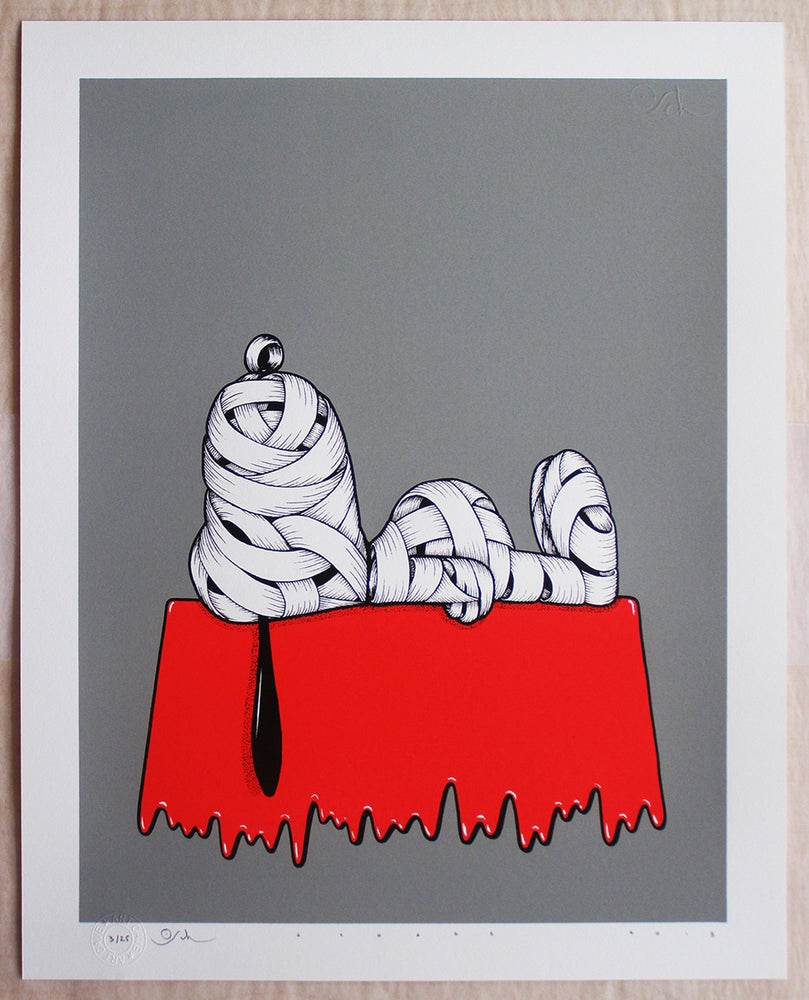 Image of Otto Schade - Snoopy Ribboned (grey)