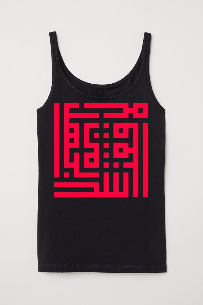 Image of Woman top - Red calligraffiti by RamZ