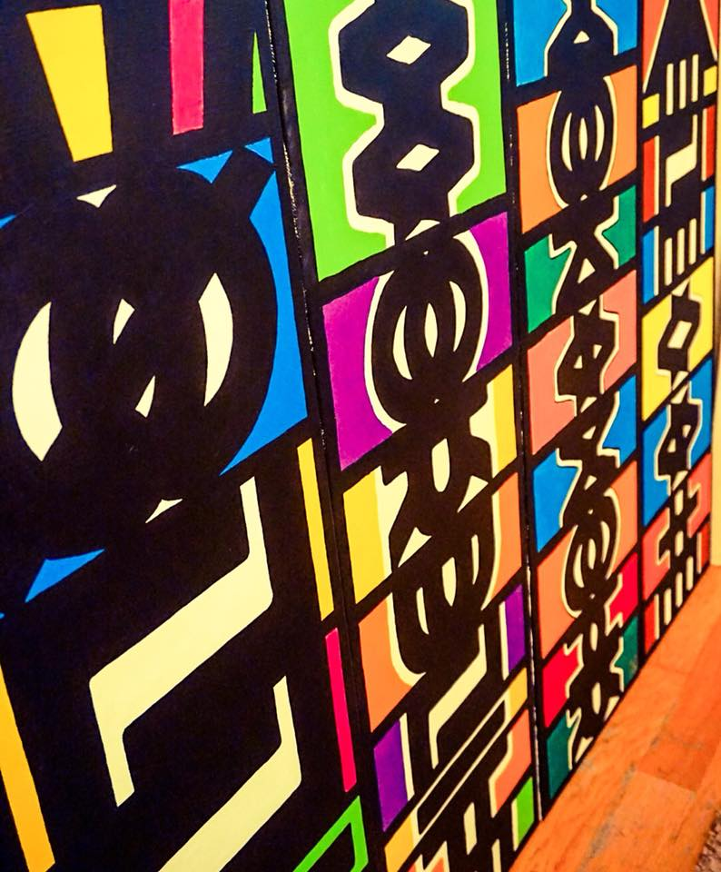 Image of Word Totem paintings