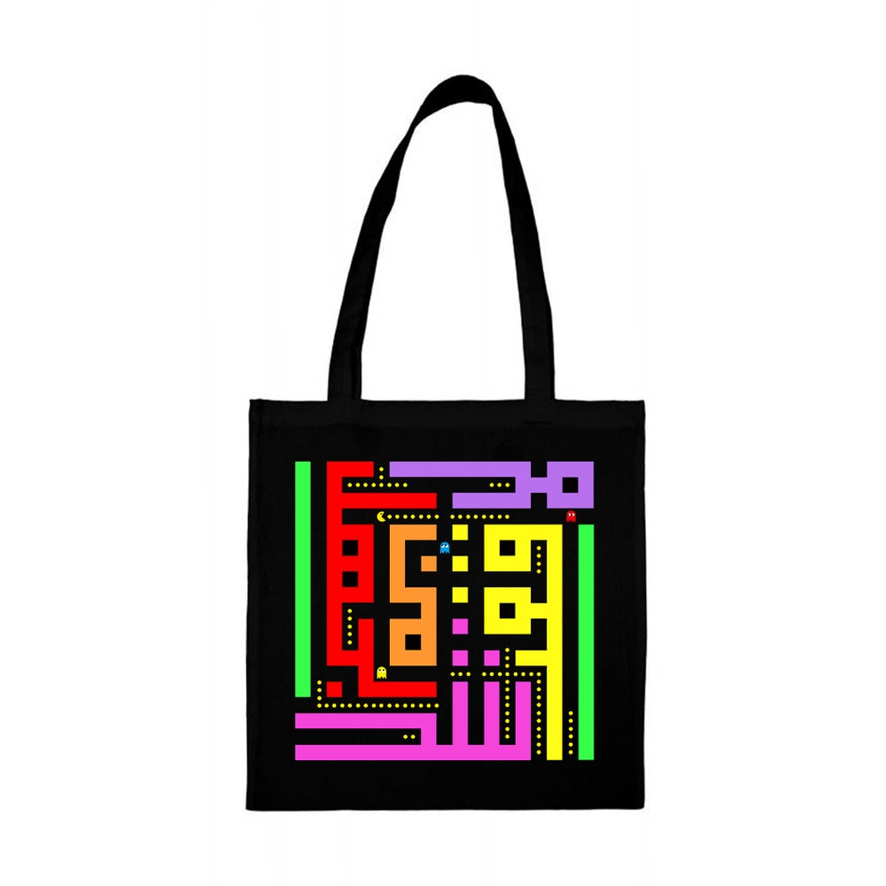 Image of Tote bag - Pacman calligraffiti by RamZ