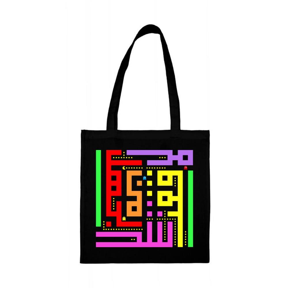 Image of Tote bag - Pacman calligraffiti