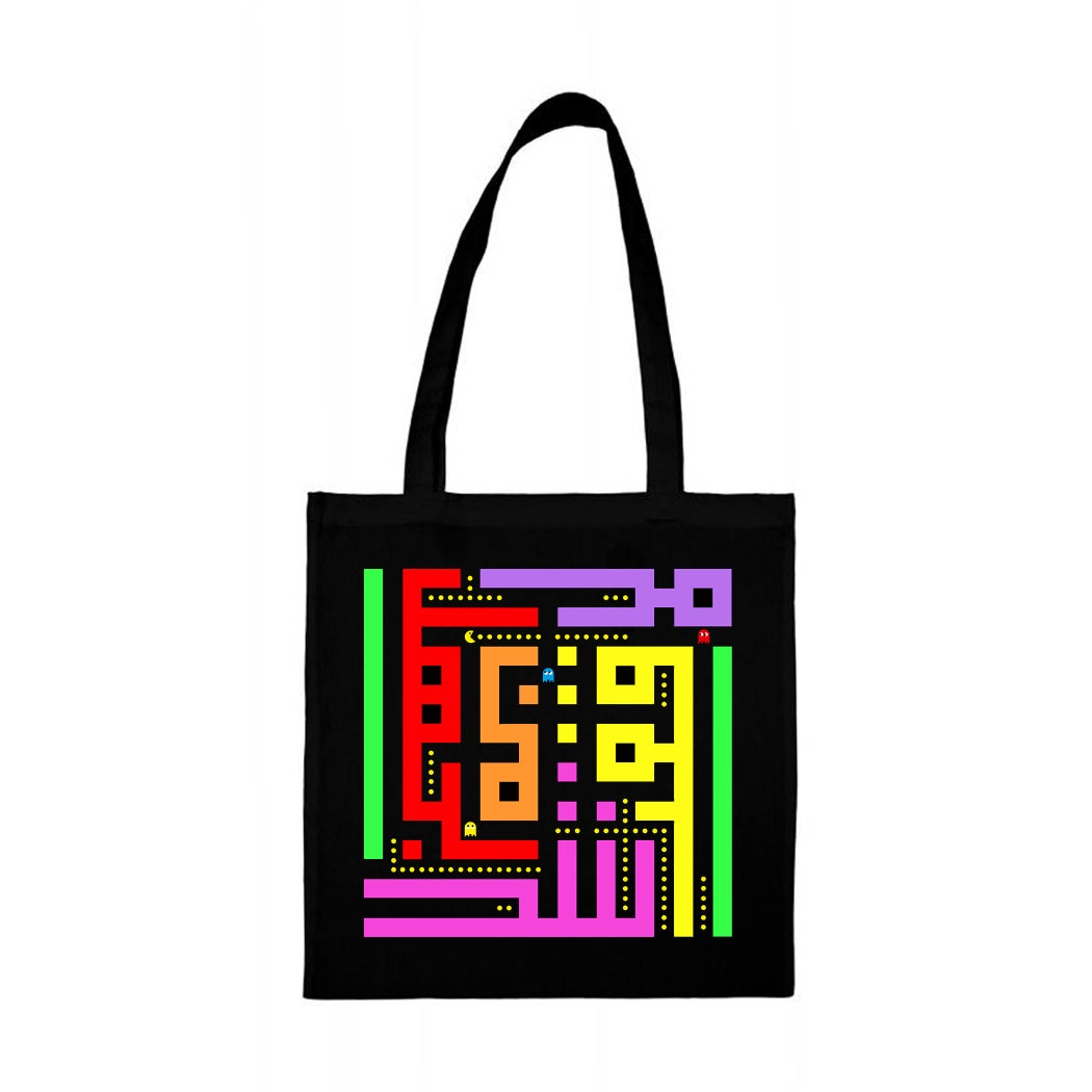 Image of Tote bag - Pacman calligraffiti