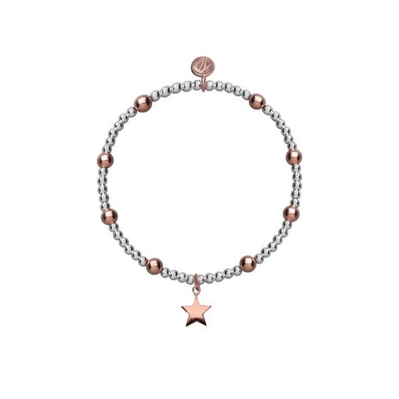 Image of Rose and Silver Shooting Star Beaded Bracelet