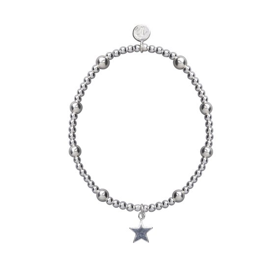 Image of Silver Shooting Star Beaded Bracelet