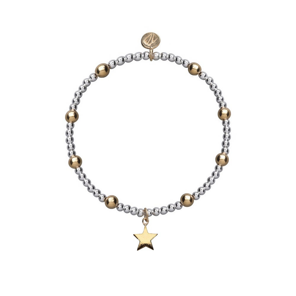 Image of Silver and Gold Shooting Star Beaded Bracelet