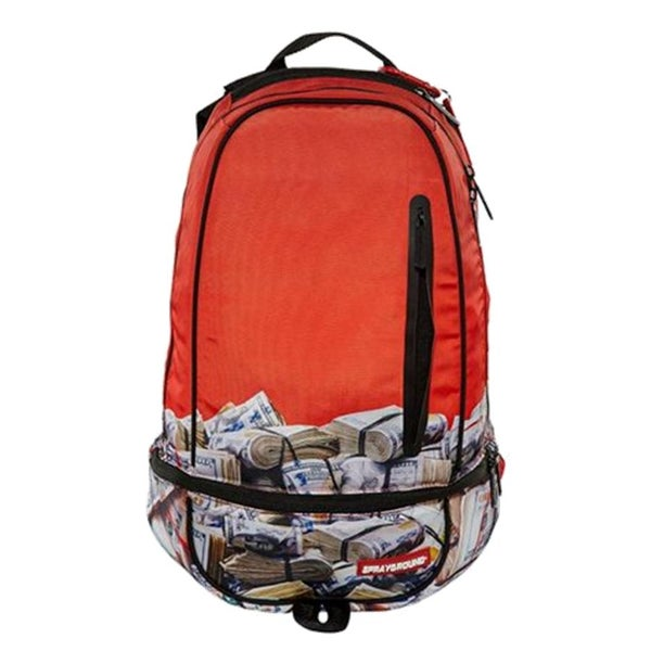 Image of SPRAYGROUND THE GAME MONEY RED BAG BACKPACK