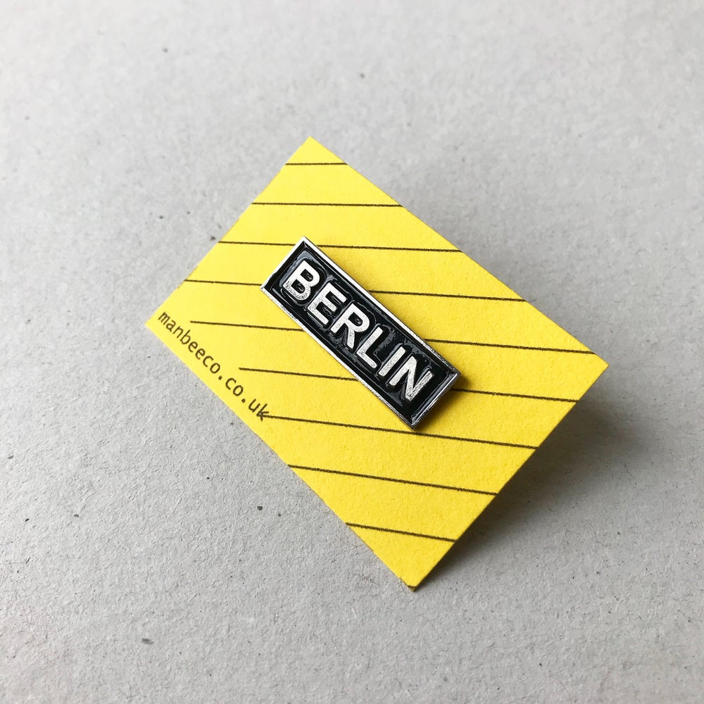 Image of BERLIN ENAMEL PIN BADGE