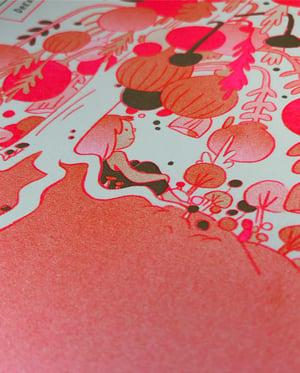 Image of Dream House Metallic Gold Riso Print