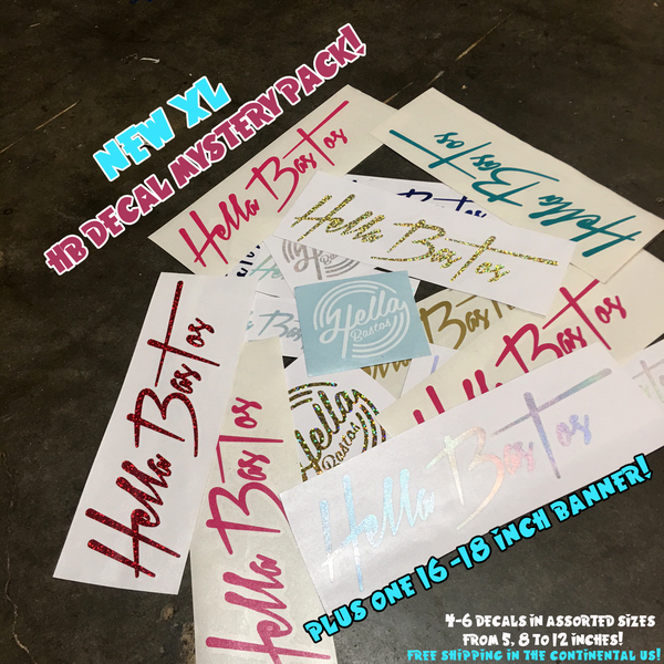 Image of HB XL Mystery Decal Pack (+ One 16' Banner!)