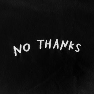 Image of NO THANKS Embroidered T-Shirt (Black)