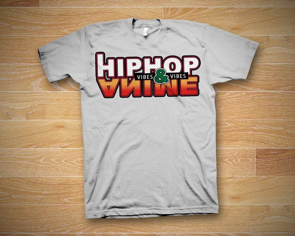Image of Hip Hop and Anime Vibes T-Shirt (White)