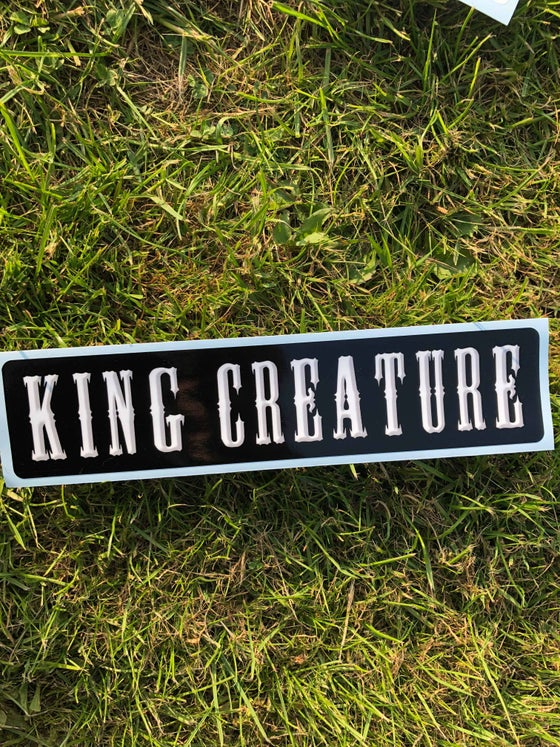 Image of King Creature Bumper sticker