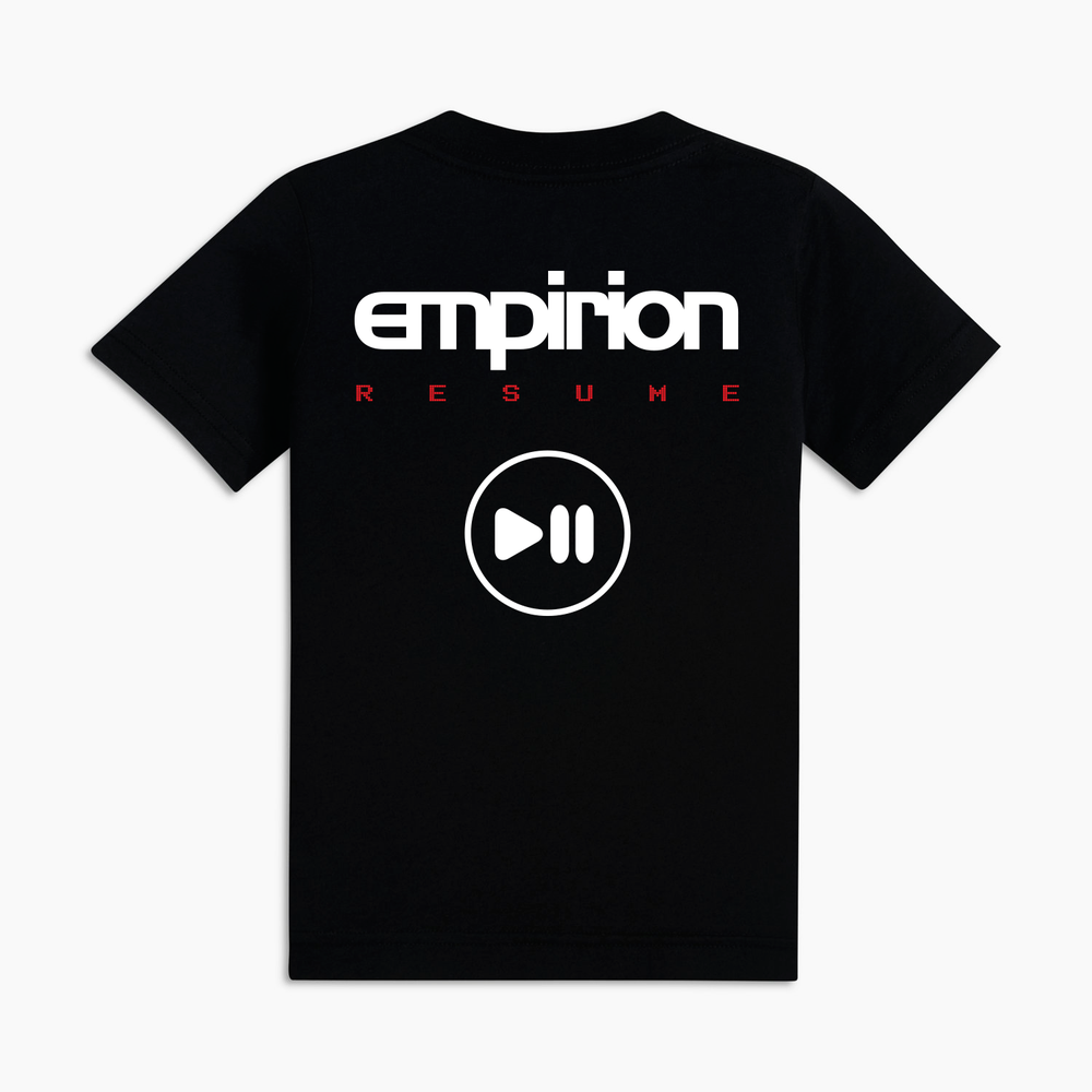 "Image of Empirion ""RESUME"" t-shirt black/white logo"