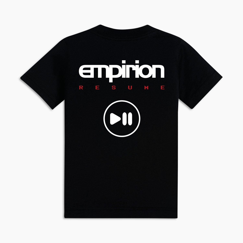 "Image of Empirion ""RESUME"" t-shirt black/white logo"