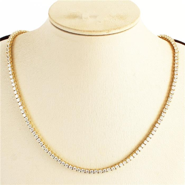 "Image of 18"" CZ Tennis Necklace"
