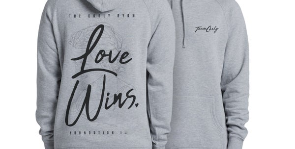 Image of 'Love Wins' Team Carly Hoody (Grey)
