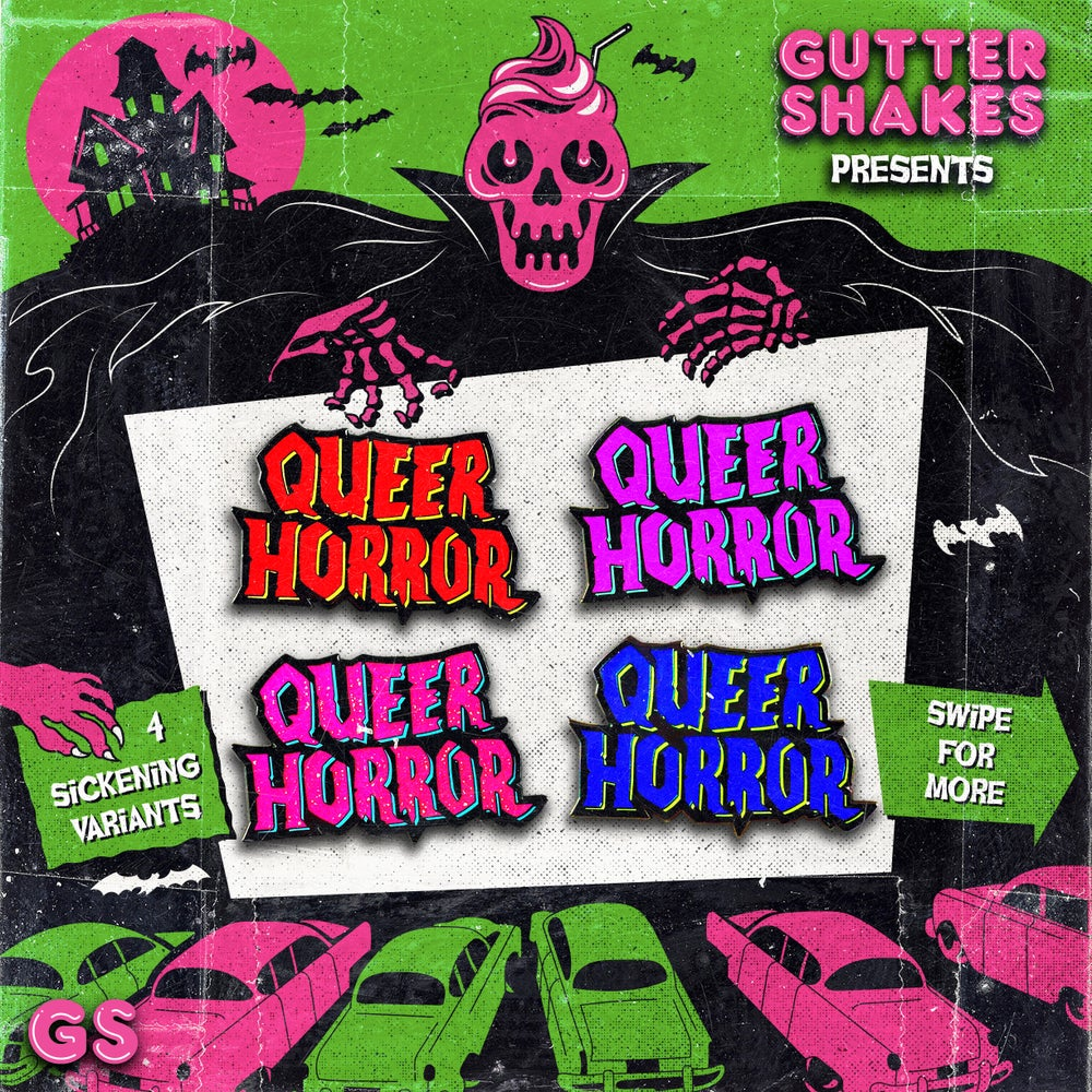 Image of Queer Horror Hard Enamel Pin