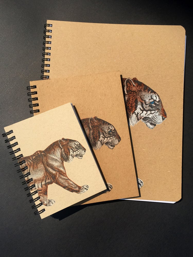 "Image of Tiger Notebooks (8""x10"")"