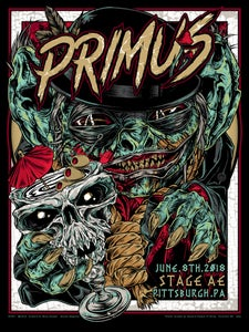 Image of PRIMUS gigposter - Pittsburgh PA - GOBLIN COCKTAIL