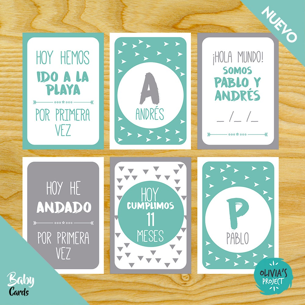 Image of Baby Cards Mellizos